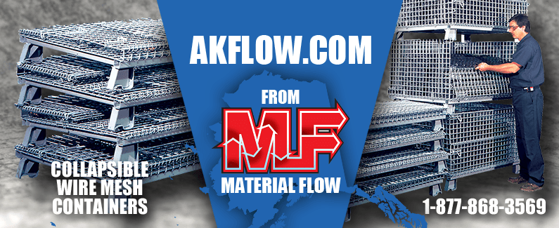 Collapsible wire mesh containers from AK Flow