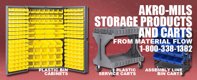 Akro-Mils storage products and carts from Material Flow