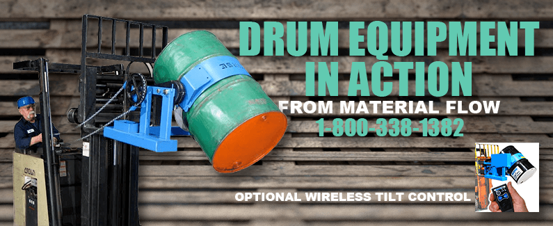 Drum equipment in action from Material Flow