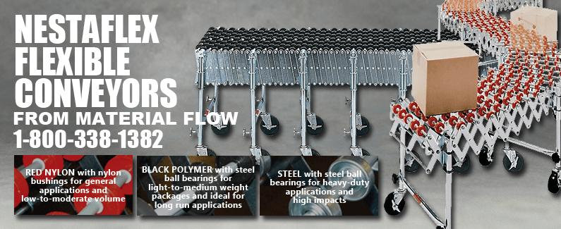 Nestaflex flexible conveyors from Material Flow
