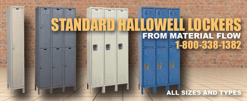Standard Hallowell lockers from Material Flow