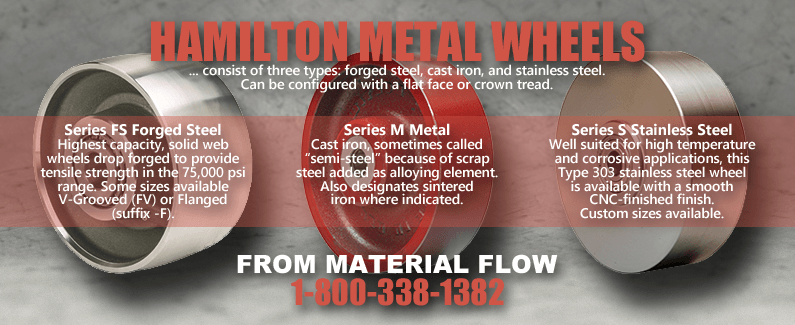 Hamilton metal wheels from Material Flow