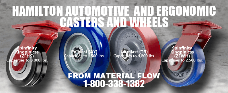 Hamilton automotive and ergonomic casters and wheels from Material Flow