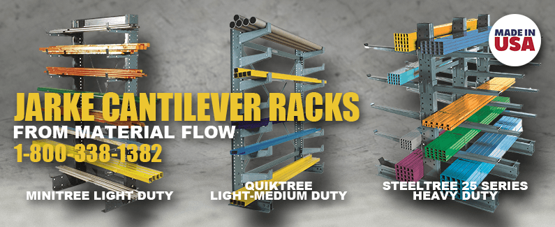 Jarke cantilever racks from Material Flow