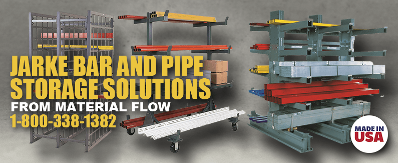 Jarke bar and pipe storage solutions from Material Flow