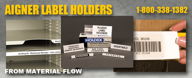 Aigner label holders from Material Flow