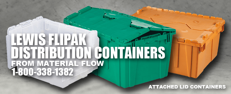 Lewis Flipak distribution containers from Material Flow