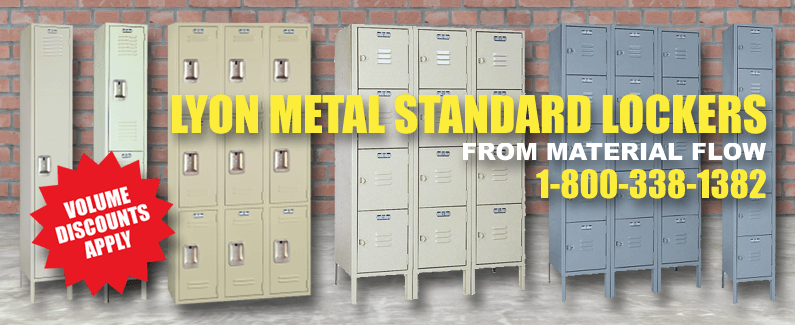 Lyon metal standard lockers from Material Flow