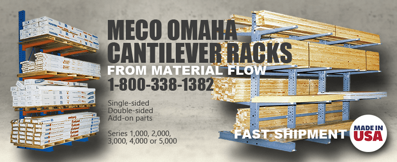Meco Omaha Cantilever Racks from Material Flow
