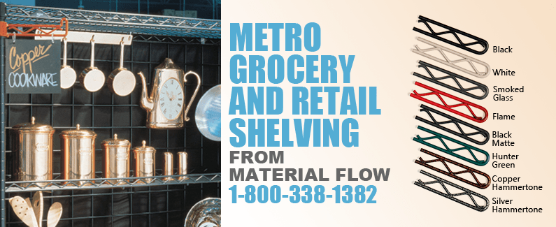 Metro grocery and retail shelving from Material Flow