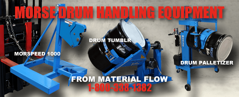 Morse drum handling equipment from Material Flow