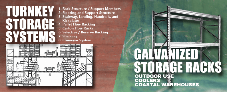 Turnkey storage systems and galvanized storage racks from Material Flow
