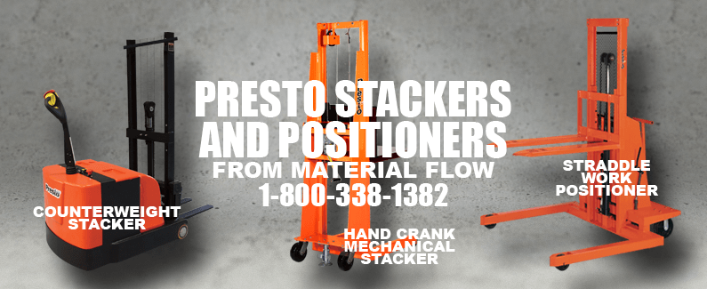 Presto stackers and positioners from Material Flow