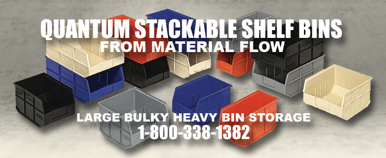 Quantum stackable shelf bins from Material Flow