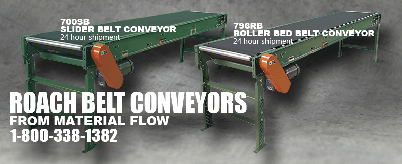 Roach belt conveyors from Material Flow