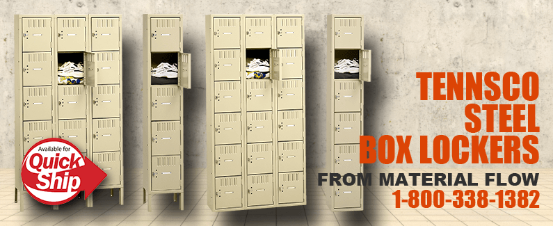 Tennsco steel box lockers from Material Flow