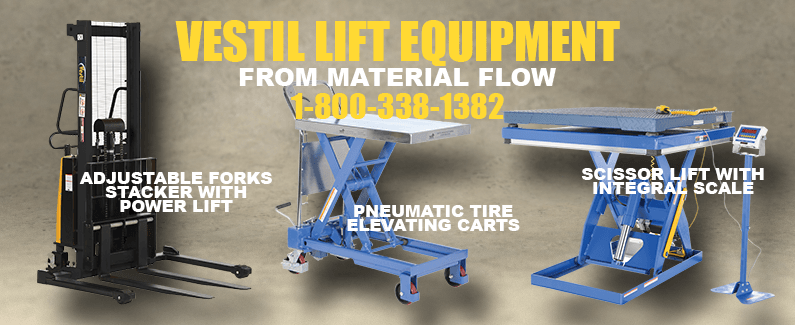 Vestil lift equipment from Material Flow