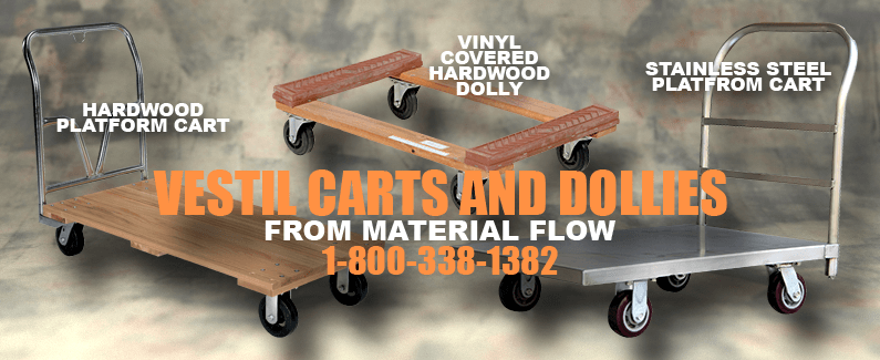 Vestil carts and dollies from Material Flow