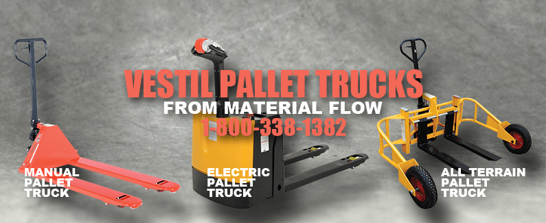 Vestil pallet trucks from Material Flow