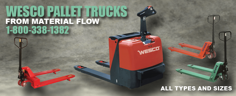 Wesco pallet trucks from Material Flow