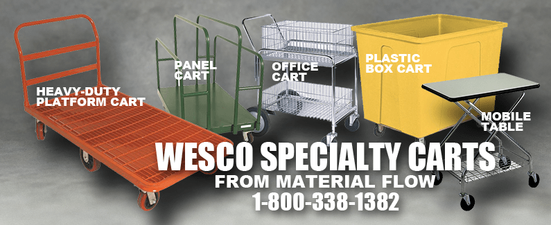 Wesco specialty carts from Material Flow