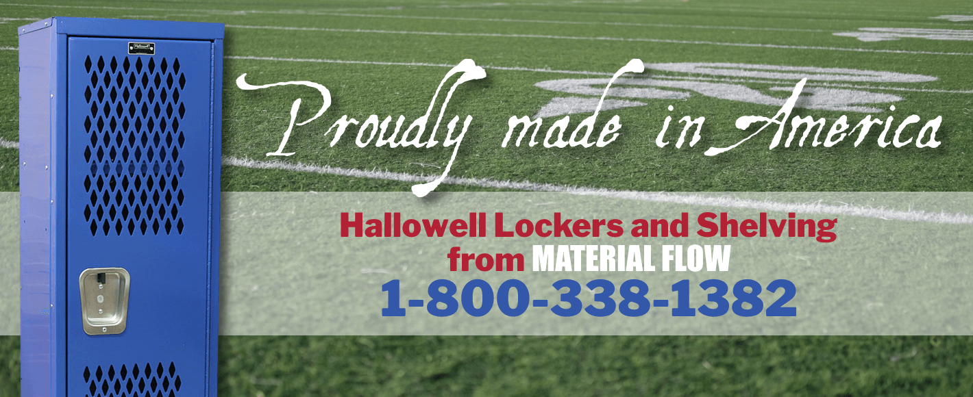 Hallowell lockers and shelving are proudly made in America